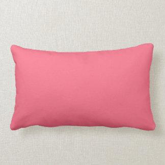 Color sólido rosado de la sandía cojin