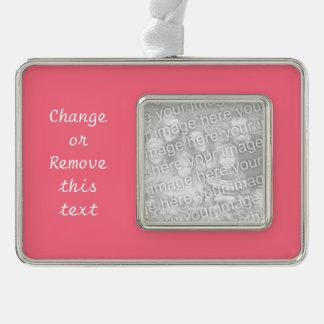 Color sólido rosado de la sandía marcos de adorno plateado