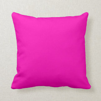 Color sólido rosado de neón cojines