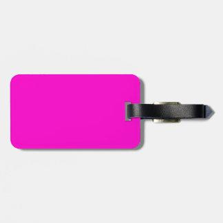 Color sólido rosado de neón etiqueta para maleta