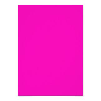 Color sólido rosado de neón invitación 12,7 x 17,8 cm