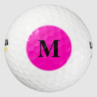 Color sólido rosado de neón pack de pelotas de golf