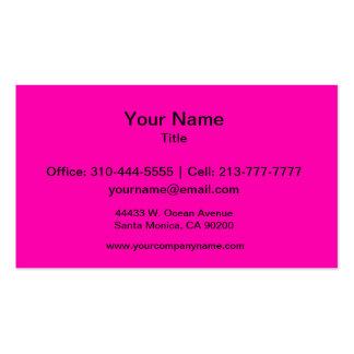 Color sólido rosado de neón tarjetas de visita