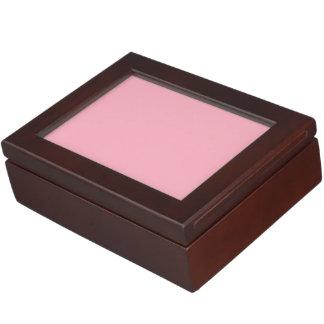 Color sólido rosado del chicle cajas de recuerdos