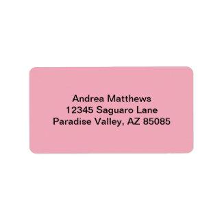 Color sólido rosado del chicle etiqueta de dirección