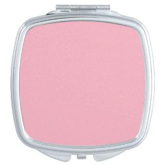 Color sólido rosado del chicle espejos compactos