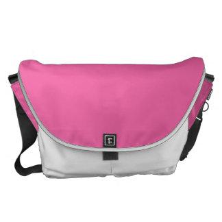 Color sólido rosado del flamenco bolsas de mensajeria