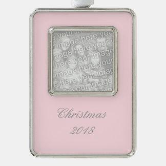 Color sólido rosado guarro adornos navideños