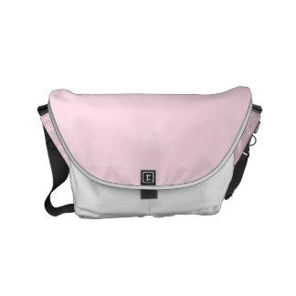 Color sólido rosado guarro bolsa messenger