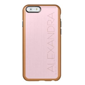 Color sólido rosado guarro funda para iPhone 6 plus incipio feather shine