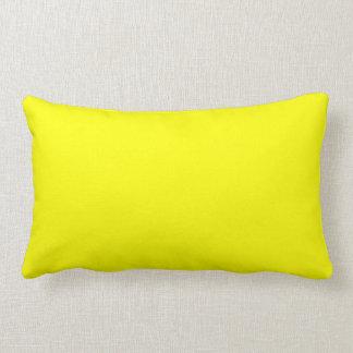 Color sólido simplemente amarillo almohadas