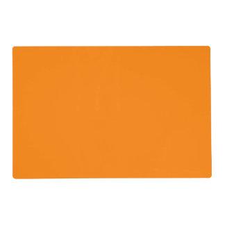 Color sólido simplemente anaranjado salvamanteles