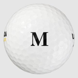 Color sólido simplemente blanco pack de pelotas de golf