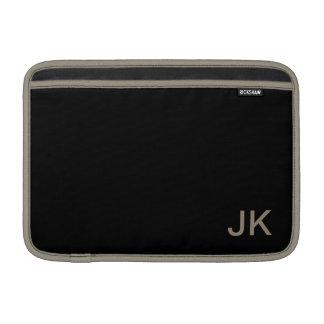 Color sólido simplemente negro fundas macbook air