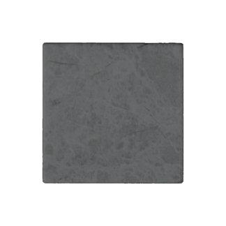 Color sólido simplemente negro imán de piedra