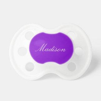 Color sólido simplemente púrpura chupetes para bebes