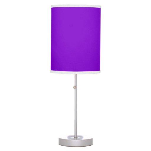 Color sólido simplemente púrpura lámpara de escritorio