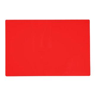 Color sólido simplemente rojo tapete individual