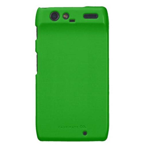 Color sólido simplemente verde motorola droid RAZR carcasa
