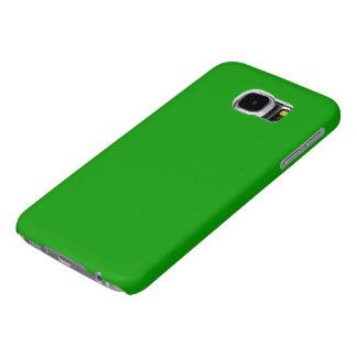 Color sólido simplemente verde fundas samsung galaxy s6