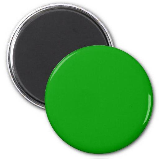 Color sólido verde #009900 iman de nevera