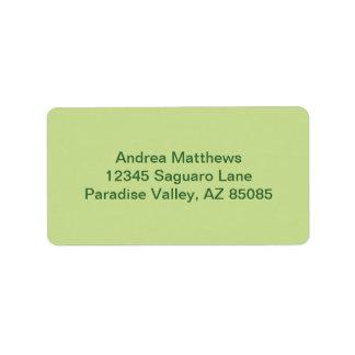 Color sólido verde del apio etiquetas de dirección