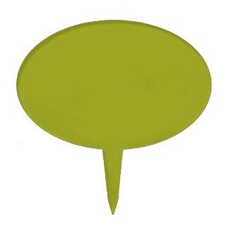 Color sólido verde del canela figuras para tartas