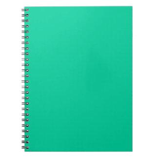Color sólido: Verde del Caribe Cuadernos