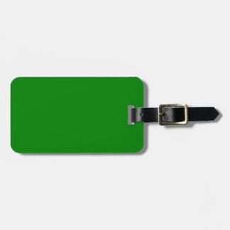 Color sólido verde elegante. Modelo de la tendenci Etiquetas De Equipaje