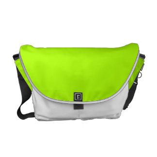 Color sólido verde fluorescente bolsa de mensajeria