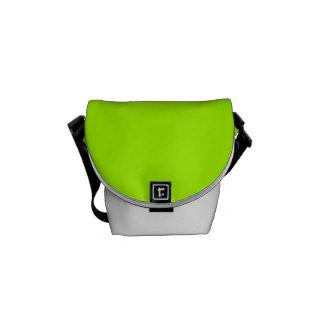 Color sólido verde fluorescente bolsa de mensajería