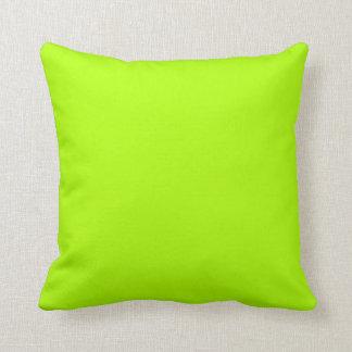 Color sólido verde fluorescente almohada