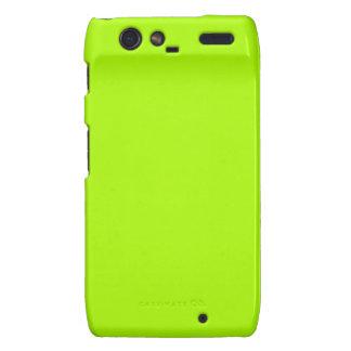 Color sólido verde fluorescente droid RAZR carcasa