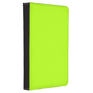 Color sólido verde fluorescente funda para kindle