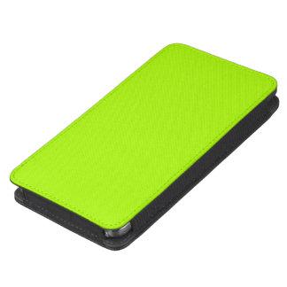 Color sólido verde fluorescente funda acolchada para móvil