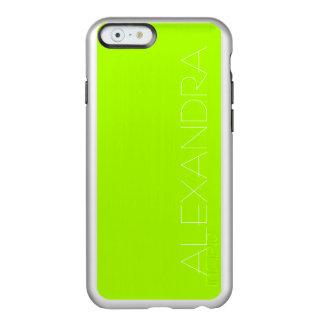 Color sólido verde fluorescente funda para iPhone 6 plus incipio feather shine