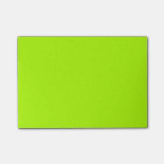 Color sólido verde fluorescente notas post-it