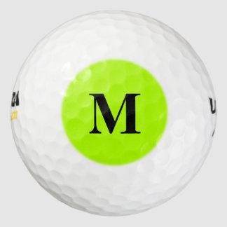 Color sólido verde fluorescente pack de pelotas de golf