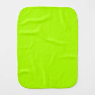 Color sólido verde fluorescente paños de bebé