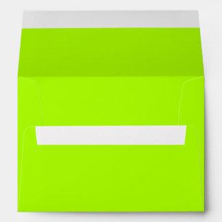Color sólido verde fluorescente sobres