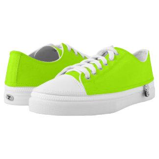 Color sólido verde fluorescente zapatillas