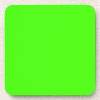 Color sólido: Verde lima Posavasos
