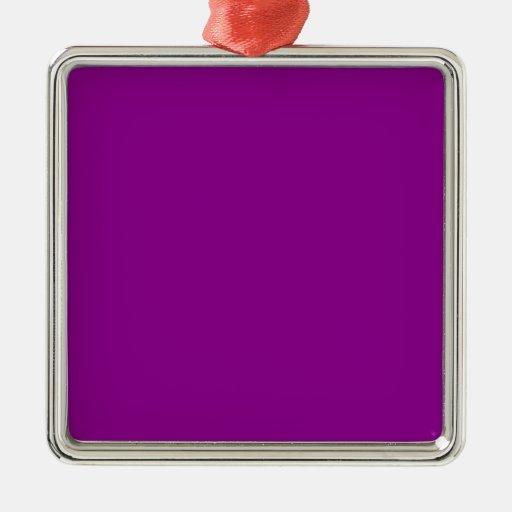 Color sólido violeta adorno cuadrado plateado