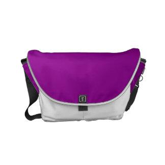 Color sólido violeta bolsa messenger