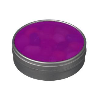 Color sólido violeta frascos de caramelos