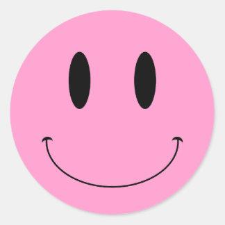 Color sonriente del personalizado de la cara del K Pegatina