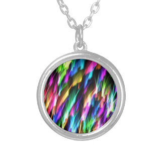 Color Sparks Silver Plated Necklace
