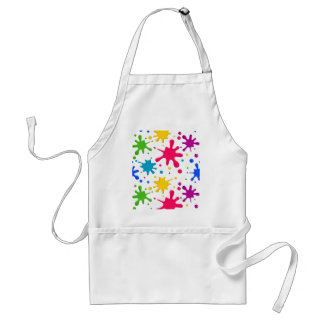 Color Spatter Adult Apron