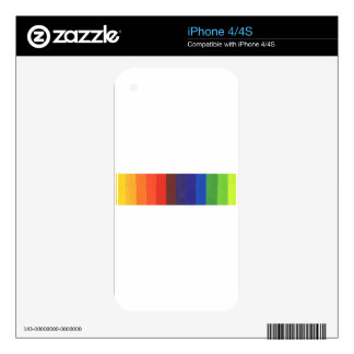 color spectrum decal for the iPhone 4S