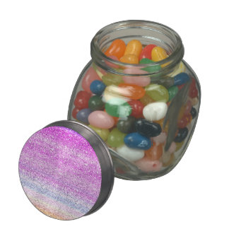 Color Spectrum Sparkle Effect Jelly Belly Candy Jar